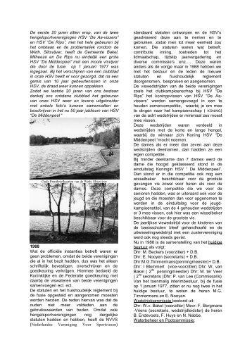 50 Jaar HSV de Middenpeel deel 2 a