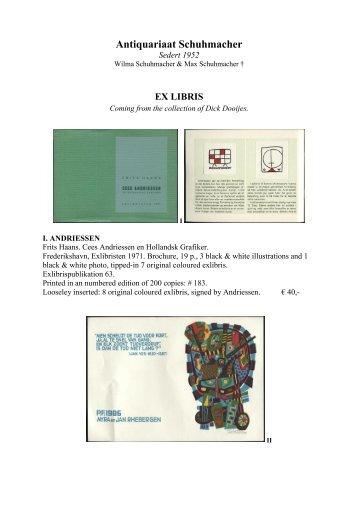 Exlibris - Antiquariaat Schuhmacher