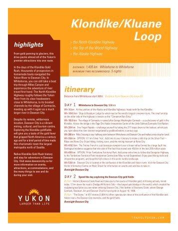 highlights Klondike/Kluane Loop - Yukon