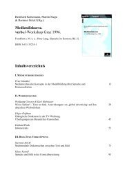 Mediendiskurse. verbal-Workshop Graz 1996. Inhaltsverzeichnis