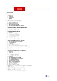 Inhoudstabel Powerpoint Voorwoord 1 Inleiding 2 ... - EduWEST.be