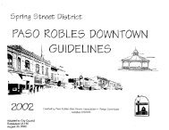 Spring Street District - City of Paso Robles