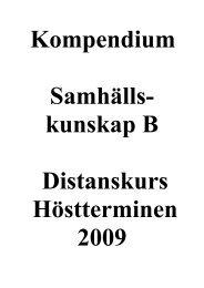 Kompendie - Historia och Samhällskunskap
