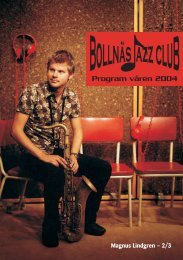 Program våren 2004 - Bollnäs Jazz Club