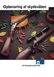 Opbevaring af våben - Haderslev-Skyttekreds