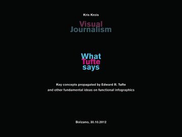What Tufte says Visual Journalism