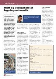 Automation Drift og vedligehold af bygningsautomatik 410 - Grontmij
