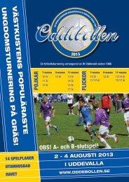 Inbjudan Oddebollen 2013