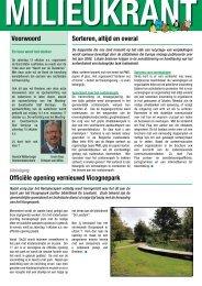 Voorwoord Officiële opening vernieuwd Vicognepark Sorteren, altijd ...