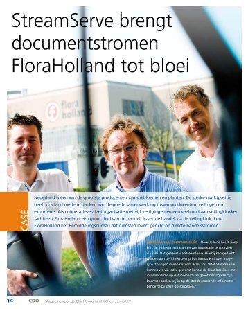 StreamServe brengt documentstromen FloraHolland tot bloei