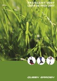 PRIJSLIJST 2007 LISTE DE PRIX 2007 - Queen Garden
