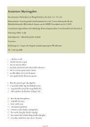 Das Arnsteiner Marienlied, in - Mittelhochdeutsches Wörterbuch