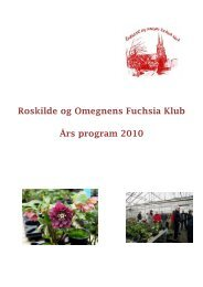 Roskilde og Omegnens Fuchsia Klub Års program 2010