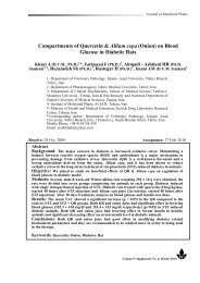 on Blood Glucose in Diabetic Rats