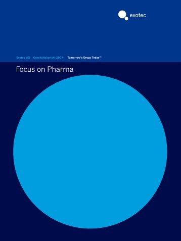 Focus on Pharma - Evotec