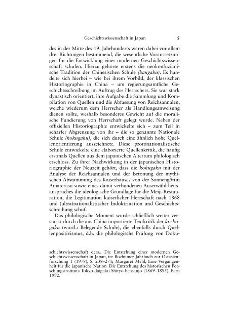 Geschichtswissenschaft in Japan: Entwicklung und aktueller ...