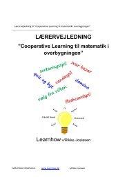 """Lærervejledning til """"Cooperative Learning til matematik i ..."""