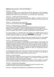 Règlement jeu-concours « Concours Powerplus » - Hubo