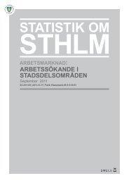 September 2011 - Statistik om Stockholm