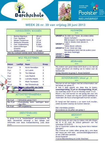 WEEK 26 nr. 39 van vrijdag 28 juni 2013