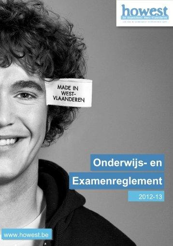 Onderwijs- en examenreglement (2012 - 2013) - Howest.be