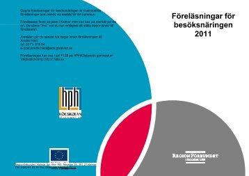 Föreläsningar för besöksnäringen 2011 - LRF