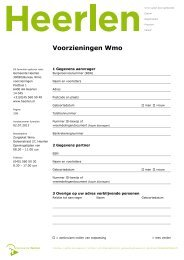 Voorzieningen Wmo - Gemeente Heerlen