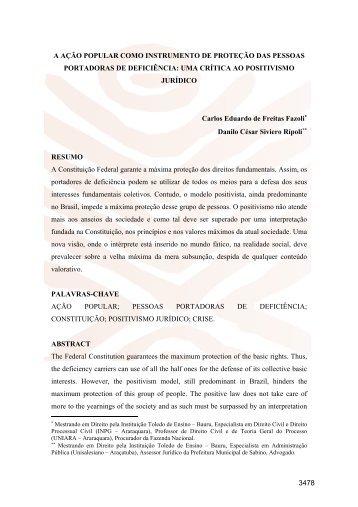 Carlos Eduardo de Freitas Fazoli, Danilo Cesar Siviero ... - Conpedi