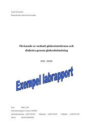 Y11 Exempel glukosklab - Umeå universitet