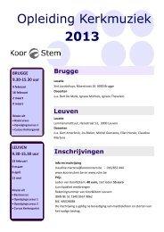 Opleiding Kerkmuziek 2013 - Koor & Stem