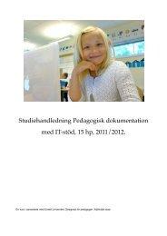 Pedagogisk dokumentation med IT-stöd - Weebly