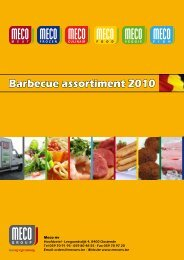 Barbecue assortiment 2010 - Meco