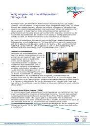 Veilig omgaan O2 apparatuur bij hoge druk - NOB