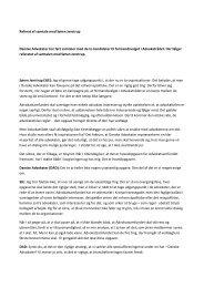 Referat af samtale med Søren Jenstrup Danske Advokater har ført ...