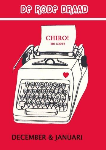 Rode Draad December – Januari - Chiro De Zuildekens