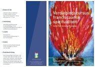 de folder - Franciscaanse Beweging