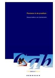 (2010), Pionieren in de proeftuin - Cab