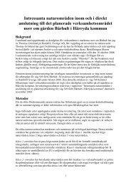 Miljökonsekvensbeskrivning bilaga - Härryda kommun