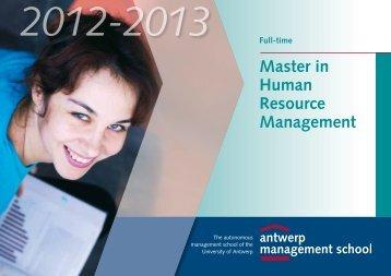 Master in Human Resource Management - Antwerp Management ...
