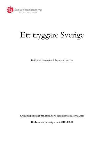 Ett tryggare Sverige - Socialdemokraterna