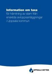 Taxa för slam från enskilt avlopp - Uppsala Vatten