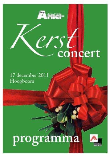 concert programma