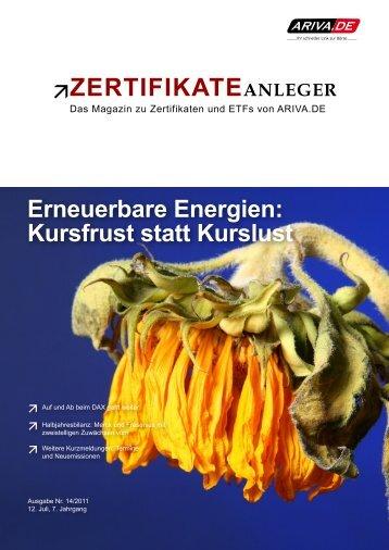 Erneuerbare Energien - Ariva.de