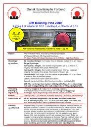 Dansk Sportsskytte Forbund DM Bowling Pins 2009 - piskydning.dk