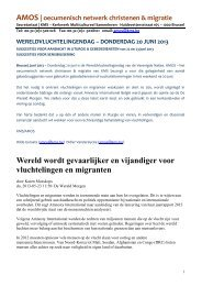 AMOS - bundel Wereldvluchtelingendag 2013 - Kerkwerk ...
