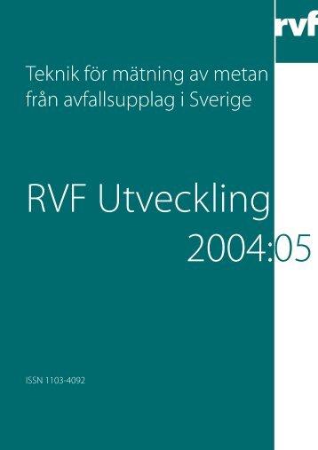Teknik för mätning av metan från avfallsupplag i ... - Avfall Sverige