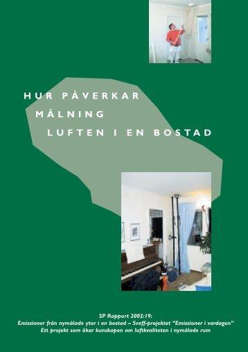 hur påverkar målning luften i en bostad - Sveriges Färgfabrikanters ...