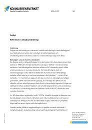 Analys Referenser i anbudsutvärdering - Konkurrensverket