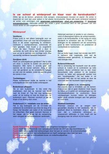 Is uw school al winterproof - Dyade