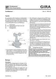 Combisensor Gebruiksaanwijzing - Gira